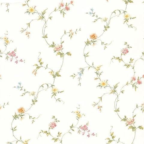 BHF 414-65764 Small Connie Floral Trail Wallpaper (White)