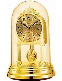 Rhythm silver oval contemporary motion clocks 19x12x12Cm