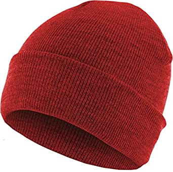 MSTRDS Unisex Beanie Basic Flap ht.red One