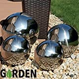 Stainless Steel Gazing Balls Ball Globes Floating Pond Balls (Set of 4)