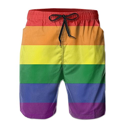 Pillow hats Men's Gay Pride Flag Quick-Dry Summer Beach Surfing Board Shorts Swim Trunks Cargo Shorts
