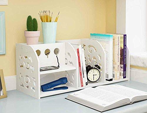 KHSKX Reception Continental rack di Bookshelf, semplici combinazioni di scaffali di stoccaggio scrivania studente (Bookshelf Stand)