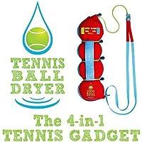 Tennis Ball Dryer - 4-in - 1 Accessory Tennis - votato 'Best Tennis Gadget ' - Include 4 Caratteristiche Grande a 1. Il perfetto Tennis regalo per ogni giocatore