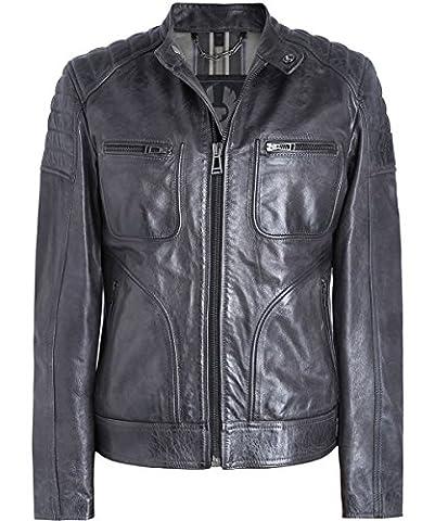 Belstaff Men's Leather Weybridge Jacket Anthracite UK 44
