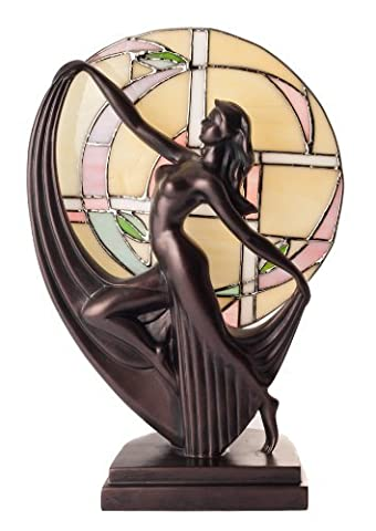 Lampe Tiffany - ART dECO laisse danseuse en bronze tiffany