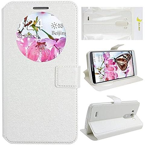 LG G3 Custodia, Moon mood® Wallet Finestra