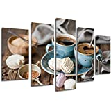 Cuadro Moderno Fotografico Cafe, Cafeteria, Desayuno, 165 x 62 cm ref. 26327