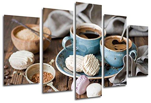 Cuadro Fotográfico Cafe, Cafeteria, Desayuno Tamaño total: 165 x 62 cm XXL