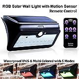 Bonlux Solar Sensor Wandleuchte 4.5W RGB Farbwechsel mit Bewegungsmelder Wasserdicht IP65 Bewegungssensor Solarleuchte für Außenwandleuchte (1-Stück)