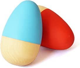 Shumee Wooden Egg Shakers (0 years+) - Discover Sounds (BLUE ORANGE)