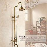 Galvanik Retro Wasserhahn modischen Design Best Preis Nickel gebürstet Wandmontage Dusche Spalte Panel mit Massagedüsen, Stil 3