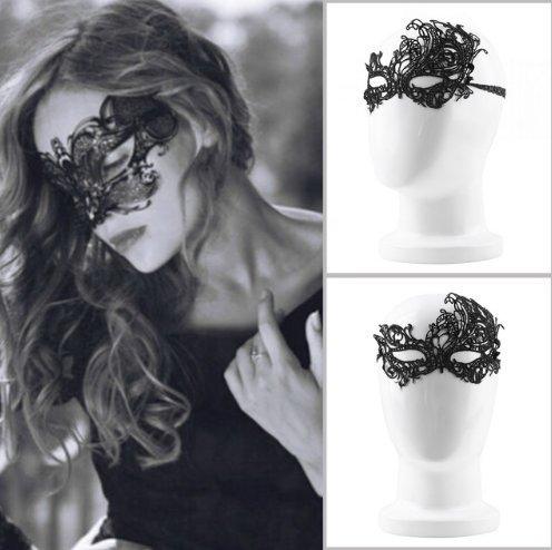 Kostüme Moderne Maskenball (Interesting® Schwarze Sexy Lady Lace Maske Ausschnitt Augenmaske für Maskerade Party)