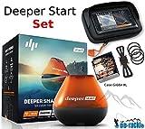 Deeper Start Sonar WiFi Echolot + Smartphone Halterung + Case XL Fishfinder zum Auswerfen