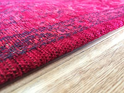 Rossini Traditional Red Luxurious Flat Weave Style Border Rugs
