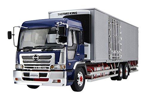 Hino Profia Teravie-FR Histar Reefer Truck 1:32 Model Kit Bausatz Aoshima 054000