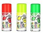 Sprühkreide 3er Set gelb+grün+rot abwaschbar buntes Markierungsspray Kreidespray, Graffiti Farbe