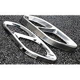 accessoires auto en acier inoxydable Finition Housse Queue de tuyau d'échappement pour Mercedes Benz E-Class W213W205GLC C une Classe A180A200W176201520162017AMG 2pcs
