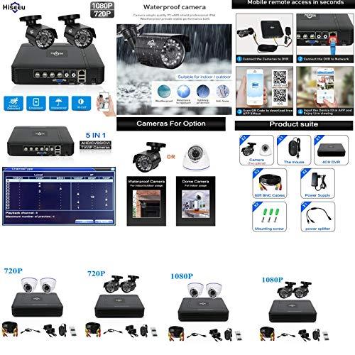 Kit de Surveillance sécurité Avec 2 caméras HD étanche et boitier DVR (accès à Distance via Smartphone) - 1080P Bullet, Aucun - Dvr Surveillance Kit