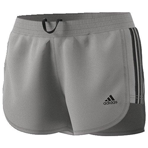 adidas Damen Training 3Streifen Knit Shorts, Damen, MGH Solid Grey/Black, Large - Solid Knit Short