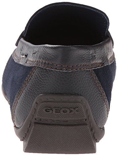 Geox U W Monet 2FIT E Suede Mocassins Chaussures Hommes Navy