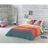 NATURALS Juego De Funda Nórdica Sunset Naranja / Crudo Cama 135 (220 x 220 cm + 45 x 150 cm)