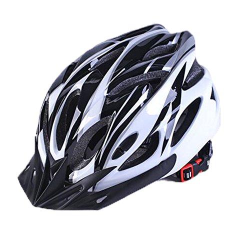 Uzexon Erwachsene Unisex Helme mit 18 Belüftungsöffnungen,Abnehmbarer Visier,Einstellbares Radsystem und Ein weicher Mesh-Liner für Fahrradhelme (Weiß&Schwarz)