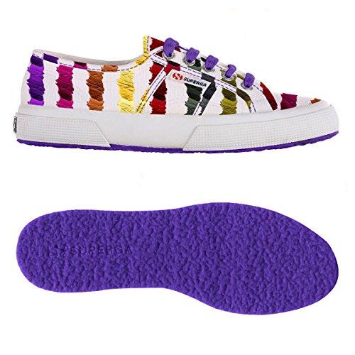 Superga Women's Fantasy Cotu Women's Colorful Sneaker 100% Cotton BRUSH MULTICOLOR