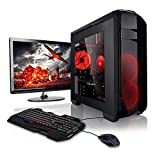 Megaport Super Méga Pack - Unité Centrale PC Gamer Complet • Ecran LED 22' • Clavier et Souris Gamer • AMD FX-6300 • GeForce GTX1050 • 8Go • 1To • Windows 10 Ordinateur de Bureau PC Gaming