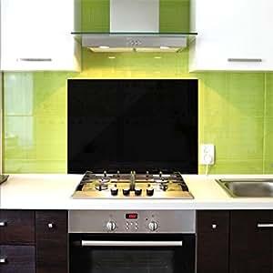 Pannello in vetro di protezione per cucina anti schizzo for Pannello decorativo cucina