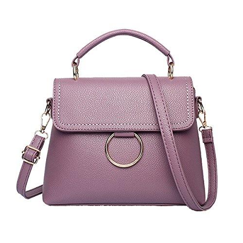 Signore Di Modo Grande Spalla Capienza Del Sacchetto Multi-color Purple