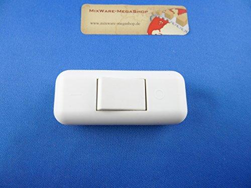 Schnur-Zwischenschalter Mit Schraubkontakten Weiß, 2-polig, 2 A, 250 V~, Paßt für LED, SMD