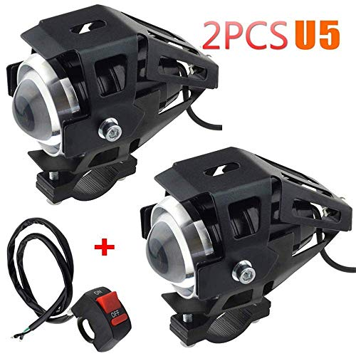 2 unidades 1 faro de moto aditional LED faro delantero de moto...