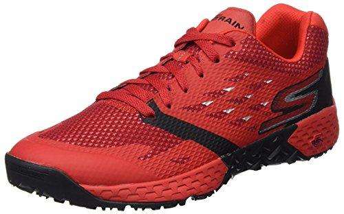 Skechers Performance Go Train-Endurance, Rojo (Red/Black), 46 EU