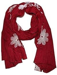 hochwertiger Schal mit Stickerei (Wickelschal / Stola)