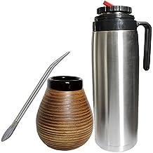 Gaucho Bruno Yerba Mate tazza di ceramica, Bombilla e Flask precisione Beccuccio