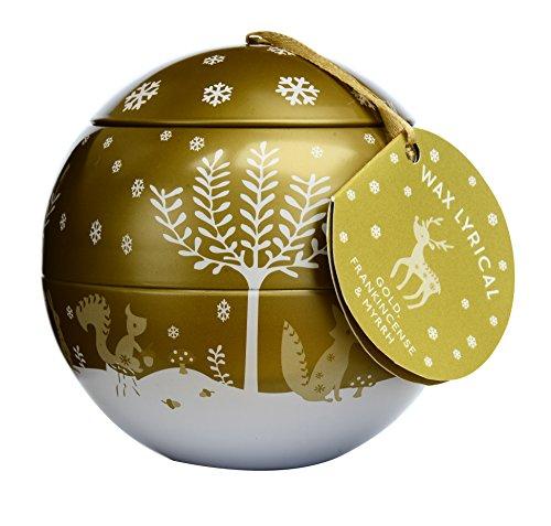Wax Lyrical – Vela Aroma de Navidad, Oro, Incienso y Mirra