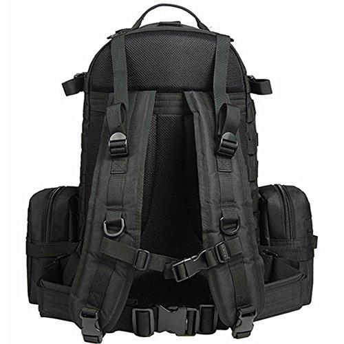dohot groß, wasserdicht Military Army Patrol MOLLE Assault Pack Tactical Rucksack Tasche für Wandern Camping, 60l Schwarz