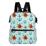 TIZORAX Marine Anker Schildkröte Schulrucksack College-Taschen Daypack Büchertaschen für Teenager Jungen Mädchen