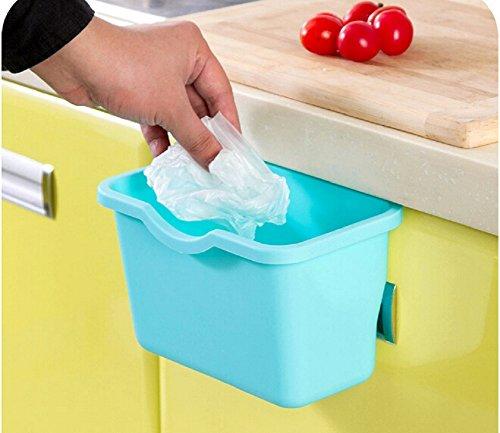 Ducomi mangiavanzi - cestino rifiuti - spazzatura pattumiera raccoglitore da cucina ideale per umido/raccolta differenziata (light blue)