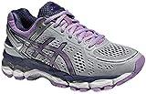 ASICS Gel-Kayano 22, Damen Laufschuhe, grau - Silver Grey/Violet / Deep Colbalt - Größe: 36 EU