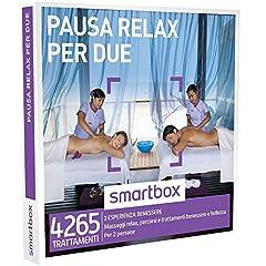 Idea Regalo - SMARTBOX - Cofanetto Regalo - PAUSA RELAX PER DUE - Massaggi relax, percorsi e trattamenti benessere e bellezza