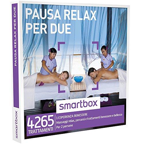 Smartbox - Pausa Relax Per Due - Massaggi Relax, Percorsi e Trattamenti Benessere e Bellezza, Cofanetto Regalo, Benessere
