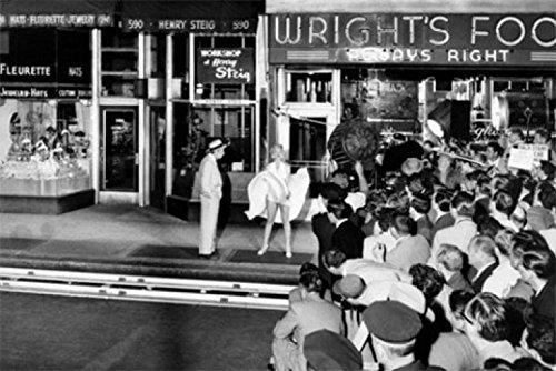 1art1 54703 Marilyn Monroe - Weißes Kleid, Lüftungsschacht, Wright\'s Food 1-Teilig Fototapete Poster-Tapete 175 x 115 cm