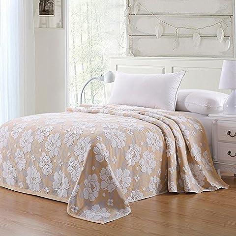 BDUK Puro Cotone Estate 3 strato Non-Twisted asciugamano coperte Quilt pattern Multi-Select Brown