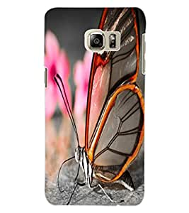 ColourCraft Beautiful Butterfly Design Back Case Cover for SAMSUNG GALAXY S6 EDGE PLUS