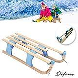 Difano Holz Klappschlitten Hörnerschlitten Faltschlitten Spire/100cm lang/36cm breit/27cm Hoch - Spaß am Schnee Genießen