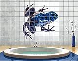 FliesenBild Blauer Frosch