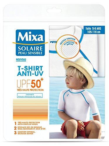 MIXA solar piel sensible camiseta anti UV infantil