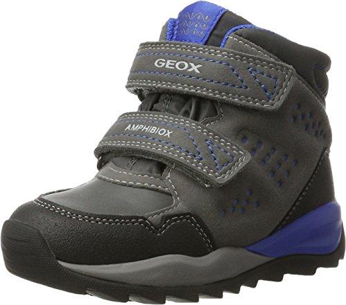 Geox Jungen J Orizont Boy ABX A Schneestiefel, Grau (Grey/Royal), 36 EU
