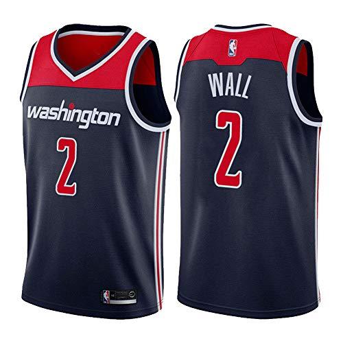 ADFA NBA Nr. 2 Basketball Trikot, Wizards Nr. 2 John Wall Trikot Weste, 2# Fan Trikot Sportswear-C1-M